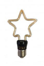 Zmr Wjx 4w (50w) Yıldız Şekilli Rustik Led Ampul