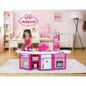 Oyuncak Barbie Mutfak Seti 3 Lü Büyük Boy Mutfak Lisanslı Kargo Ücretsiz