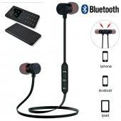 Oppo Reno Z Kablosuz Kulaklık Sport Bluetooth Manyetik Mıknatıslı Siyah Renk