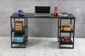 Metal Lüx Çalışma Masası Bilgisayar Masası Sehpası Siyah