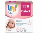 Uni Baby Cream 32li Islak Mendil