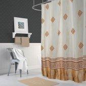 Zethome Evdy Banyo Duş Perdesi 4860 Çift Kanat 2x110x200