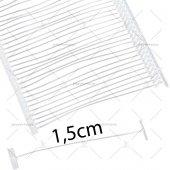 şeffaf Standart Etiketleme Kılçığı (10.000 Adt) 15milimetre