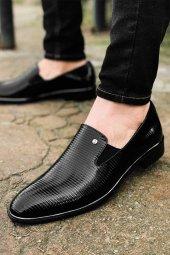 Tamboga579 Tamboga 579 Çizgili Rugan Klasik Erkek Ayakkabı