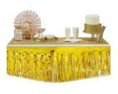 Masa Kenarı Eteği Ve Fonsüsü Metalize Beyaz 1 Adet