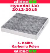 Hyundai i30 karbonlu polen filtresi 2012-2018 arası tüm modeller için