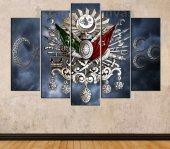 Gümüş Osmanlı Arması, Ay Yıldız ve 3 Hilal Özel Tasarım