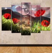Atatürk, İzmirin Dağlarında Çiçekler Açar temalı özel tasarım