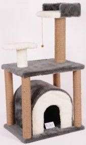 Cat Hause Tırmalama Kedi Evi 105x60x40cm S1