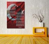 data2 Atatürk ve İstiklal Marşı Kırmızı Kanvas Tablo