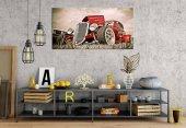 zb143 Klasik Araba 1 Panoramik Kanvas Tablo