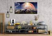 yn-53 Gezegen Panoramik Kanvas Tablo