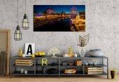 rpt91 Lunapark Işıklar Panoramik Kanvas Tablo