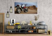 dc2 Motosiklet Ducati 2 Panoramik Kanvas Tablo