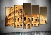 yn241 Roma Kolezyum 5 Parça Kanvas Tablo