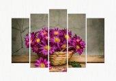ct312 5 Parçalı Kanvas Tablo Sebep Çiçek