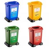Geri Dönüşüm Sıfır Atık Kutusu Plastik 50 Litre-2