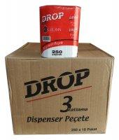 Drop Dispenser Masaüstü Peçete - 3 Katlama - 250 Adetlik 18 Paket - Koli