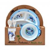 Yunus Melamin Bebek Mama Yemek Tabağı Kabı Bardak Kaşık 5li Set