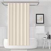 Zethome Jackline Banyo Duş Perdesi 0010 Krem Çift Kanat 2x120x200