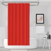 Zethome Jackline Banyo Duş Perdesi 0010 Kırmızı Çift Kanat 2x120x200