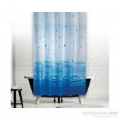 Zethome Jackline Banyo Duş Perdesi 5020 Tek Kanat Mavi 1x180x200