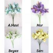Büyük Cipso Ara Dal Çiçek Malzemesi 4 Renk