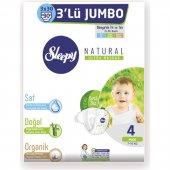 Sleepy Natural Bebek Bezi Jumbo No 4 Maxi 7 14 Kg 3x30 Adet