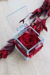 Sevgililer Günü Solmayan Gül+hediye Kolye