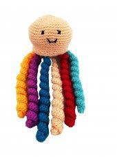 Oyuncak Ahtapot Bebek 6 Farklı Renk Kollu Doğal Oyuncak Bebek