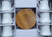 Lavin 02608 Bambu Tabaklı Kahve Fincanı