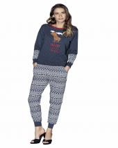 Güryıldız Likralı Uzun Kol Bayan Pijama Takım 4397