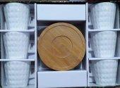 Lavin 02615 Bambu Tabaklı Kahve Fincanı