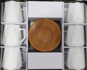 Lavin 02622 Bambu Tabaklı Kahve Fincanı