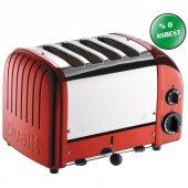 Dualit 47031 Classic 4 Hazneli Ekmek Kızartma Makinesi Kırmızı