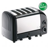 Dualit 47035 Classic 4 Hazneli Ekmek Kızartma Makinesi Siyah