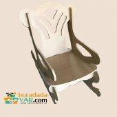 Ham Ahşap Sallanan Sandalye Çocuk Modeli
