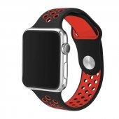 Apple Watch 2 3 4 5 Akıllı Saat 38 Mm Delikli Slikon Kayış Kordon Krd 02