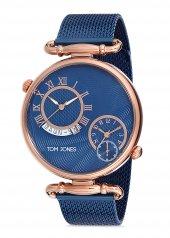 Tom Jones TJE9036 çelik kordon erkek kol saati 2 yıl garantili