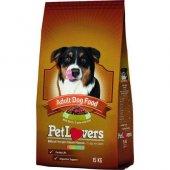 Pet Lovers Biftekli Yetişkin Köpek Maması 15 Kg...