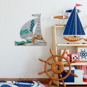 çocuk Odası Dekoratif Yelkenli Ayna