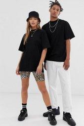 Siyah Oversize Unisex Basic Tişört
