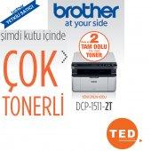 Brother Dcp 1511 Yazıcı Tarayıcı Fotokopi 2 Tam Dolu Tonerli
