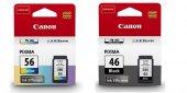Canon Pg 46 Cl 56 Siyah Renkli Kartuş Set E404 E414 E464 (2ürün)