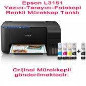 Epson Ecotank L3151 A4 Mürekkep Tanklı Mfp Yazıcı