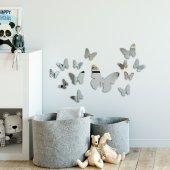 Kelebekler Akrilik Duvar Aynası