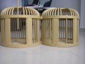 Keklik Kafesi Çubuklu Çift Küçük Boy