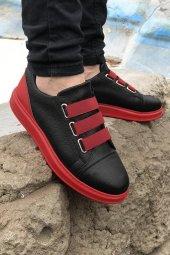 2020 Özel Tasarım Ortopedik Erkek Siyah Krmızı Spor Ayakkabı
