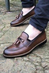 Yeni Model Vizyon (708) Taba Cilt Püsküllü Erkek Ayakkabı