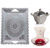 Başak 14 Parça Taç(Gümüş) Çay Seti Takımı